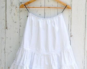 White Petticoat Cotton Skirt