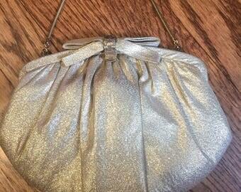 Vintage HL (Harry Levine) Gold Lame Formal Evening Bag Clutch