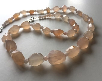 Sweet Talk: Agate and beryl, sterling silver. Necklace and earring set.