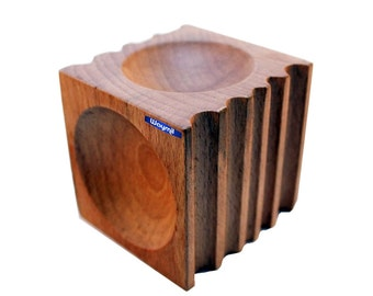 Wood Forming Block Grooved W/ 4 Half Spheres, 5 U-Channels Jewelry Dapping Tool WA 412-434