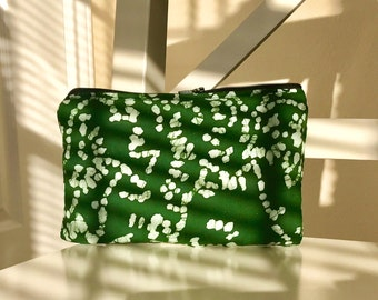 FREE SHIPPING - Padded Pipe pouch for glass piece - 420 - Herb Green Batik