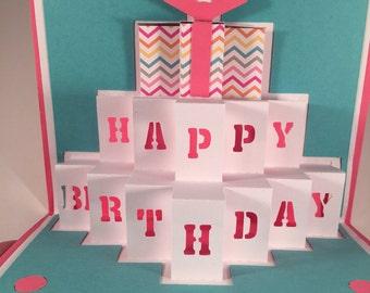 Happy Birthday Cake Pop Up Card
