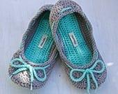 Adjustable non-slip crochet slippers