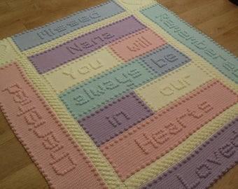 Remembrance Nana Lap Blanket Crochet PATTERN by Peach.Unicorn