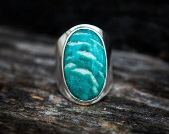 Amazonite Ring Size 7.5 - Amazonite Ring - Amazonite Jewelry - Amazonite Rings - Amazonite Ring 7.5 - Amazonite Ring Stunning Amazonite 7.5