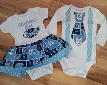 NC Tarheels bodysuit for Boy or Girl