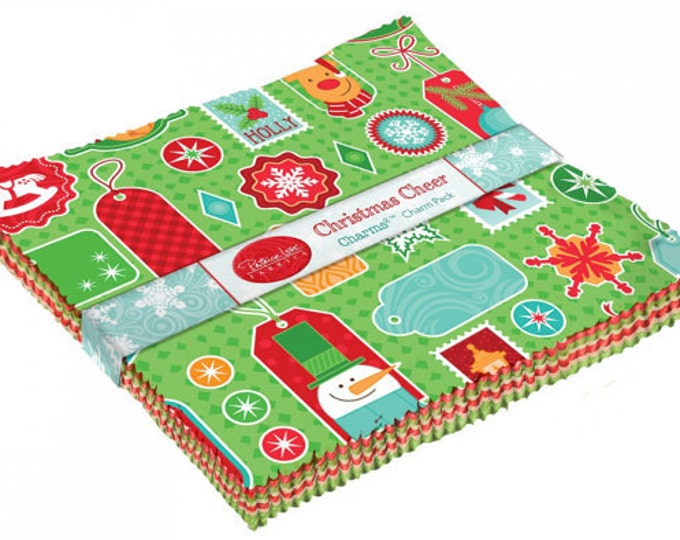 "Patrick Lose Fabrics - Christmas Cheer - (42) 5"" Charm Squares"