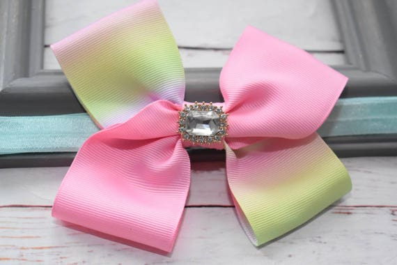 Pastel ombre pink bow headband - Baby / Toddler / Girls / Kids Headband / Hairband / Hair bow / Barrette / Hairclip