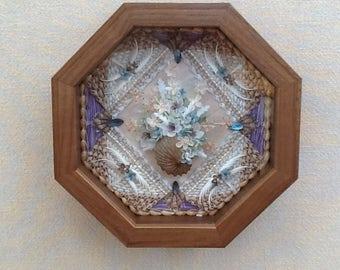 Sailors Valentine, Petite Fleur, Valentine Box, Sailor Valentine, Valentine Shell Art, Shell Boxes, Sailor Valentine Shell Art