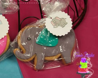 "Baby Elephant  Boys & Girls 2"" Sugar Cookies"