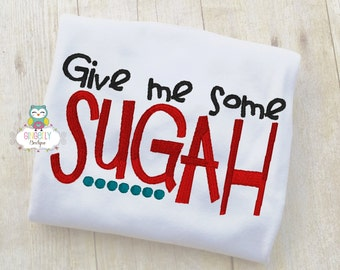 Give me some Sugah Shirt or Bodysuit, Valentine Shirt, Valentines Day Shirt, Valentines Day Outfit, Boy Valentine, Heart Shirt
