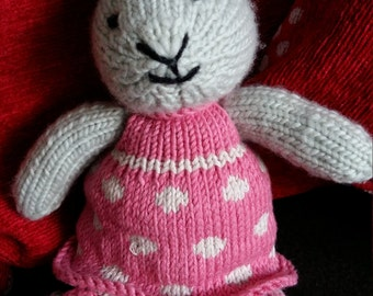 Hand Knitted Bunny Rabbit called Millie