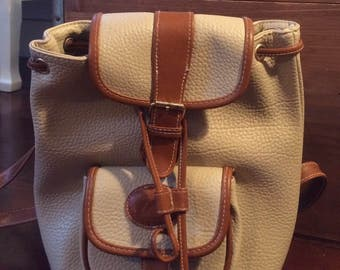 Vintage hipster Brown and Beige Classic Collection Backpack with adjustable straps