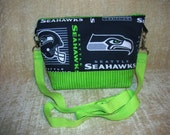 "Seattle Seahawks cross body shoulder strap purse - ""Tessie"""