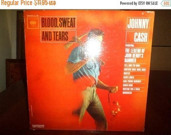 Save 30% Today Vintage 1963 Vinyl LP Record Blood Sweat and Tears Johnny Cash Very Good Condition Mono 7083