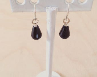 Onyx drop earrings