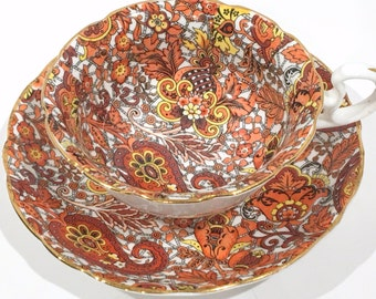 Radfords Chintz Tea Cup and Saucer, Chintz Tea Cups, English Teacups, Made in England, Antique Tea Cups, English Bone China Cups