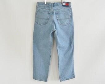 Tommy Hilfiger Jeans Large Tommy Jeans Patch Size Men's 36/30 Lighter Wash Tommy Jeans Vintage 90's