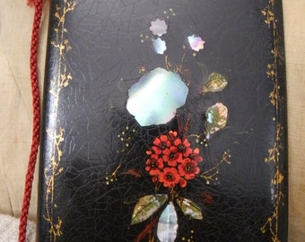 Antique french notebook case for balls 1850 XIX
