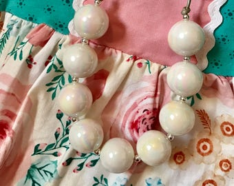 Baby necklace, adjustable necklace, Adjustable necklace, pearl necklace, bubblegum necklace, chunky bead necklace, 20mm bead necklace
