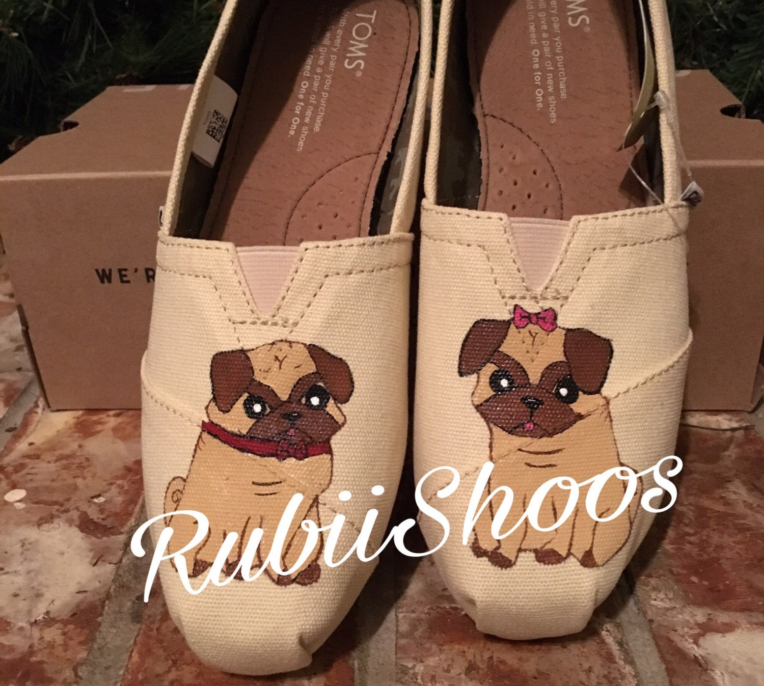 wedding toms toms wedding shoes RubiiShoos Original Pugs Natural Toms Pug Life Pug Shoes Dog Lover Gift Veterinarian Gift Puppy Love Wedding Toms Hand Painted