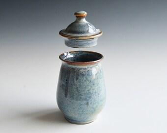 Handthrown lidded jar