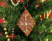 Diamond Cookie Cinnamon Scented Ornament | Handcrafted | Not Real Cookie DO NOT EAT