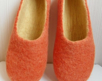 Made to order, Felted slippers,  handmade home shoes