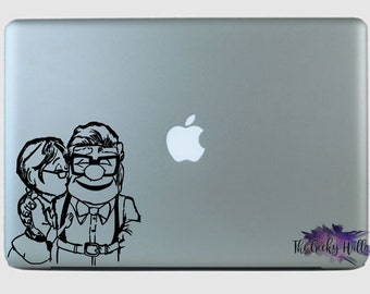 Ellie And Carl - UP - Adventure Is Out There - Pixar - Disney - Inspired - Vinyl - Sticker - Macbook - Car Window - Decal - Sticker