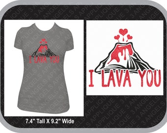 I Lava You Valentines Day SVG Cutter Design INSTANT DOWNLOAD