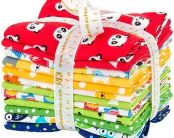Urban Zoology Minis Primary Fat Quarter Bundle of 12 Cotton Fabric Kaufman~ Fast Shipping FQ701