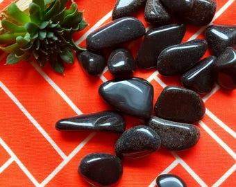 Apache Tears - Apache Tear - Obsidian - Tumbled Apache Tears - Crystal Gift - Stocking Stuffer - Secret Santa