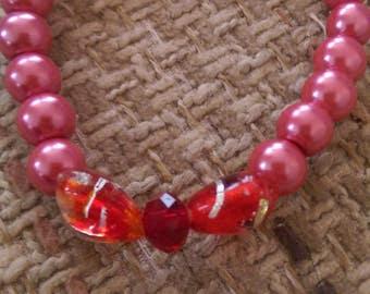 Beautiful Red Pearl Bracelet