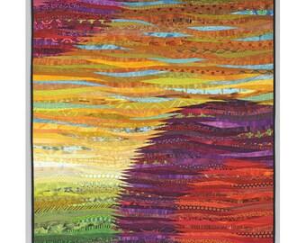 Modern art quilt. Abstract textiles. Wall art. 37x47 inches. Original quilt. Contemporary fiber. Modern home decor. Pieced art. Wall hanging