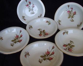 Vintage Rosenthal Moss Rose Dessert or Fruit Bowls , Set of Seven , 7 Selb Germany Rosenthal Design  Bowl