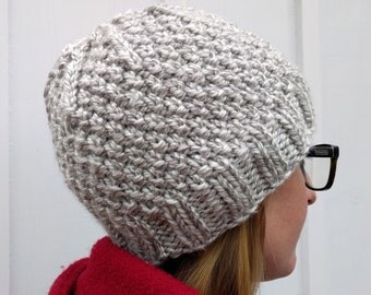 Pattern: Knit Evergreen Beanie Instant Download