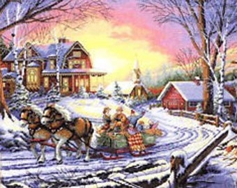 The Gold Collection #35208 - Pleasures of Winter Cross Stitch Kit