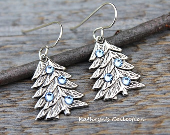 Winter Woodland Earrings, Pine Tree Jewelry, Winter Wonderland, Pine Tree Jewelry, Christmas Tree Earrings