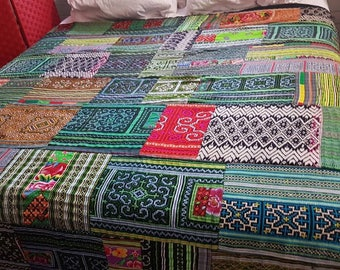 Patchwork hmong quilt wallhanging