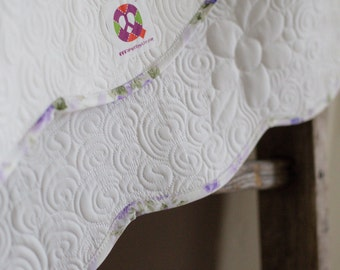 Spring Baby Quilt, Modern Christening Quilt, Baptism Baby Blanket, Personalized, Modern, Handmade Baby Quilt for Sale