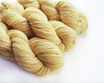 Goldenrod Sock Yarn, Naturally Dyed, Gold Sock Yarn, Botanical Dyes, Plant Dye, Superwash Merino Yarn, Hand Dyed, Natural Dyes Yellow Yarn