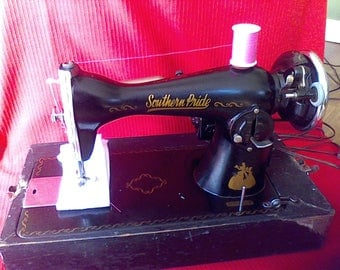 Sewing Machine, Vintage, heavy duty,working, Southern Pride, 1930's Made in  Japan