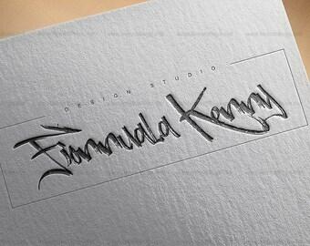 Logo, Custom Premade Logo Design Package,Branding Package - feminine logo, custom logo design, bloggers logo, modern logo, logo branding