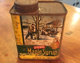 Pure Maple Syrup - Tin Container - Tin Advertising