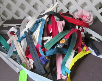 Mixed lot of zippers 50 per lot sewing crafting