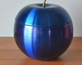 Vintage blue anodised apple ice bucket mid century rare anodized