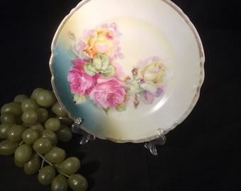 H025  Hand painted dessert plate from Germany
