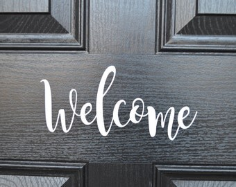 Welcome Door- Front Door,-Decal- Vinyl