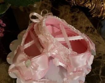 Ballerina Cake Topper / Shoe Cake Topper / Shower Cake Topper / Ballerina Shoes