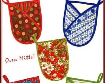 HOT STUFF!  Oven & Pot Holders    By: Vanilla House Designs   P121
